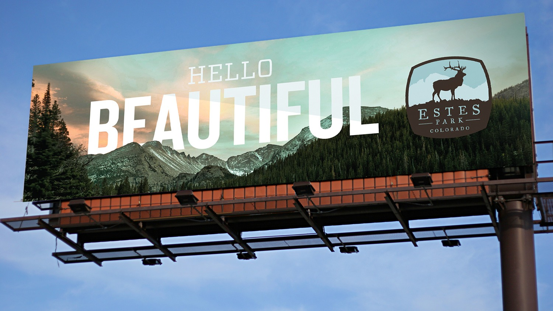 Visit Estes Park billboard
