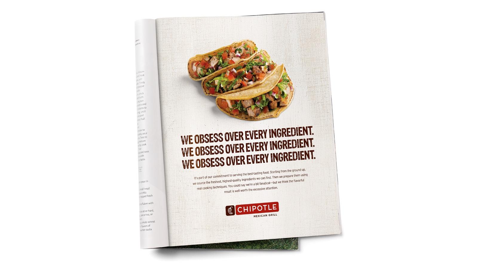 Chipotle magazine spread