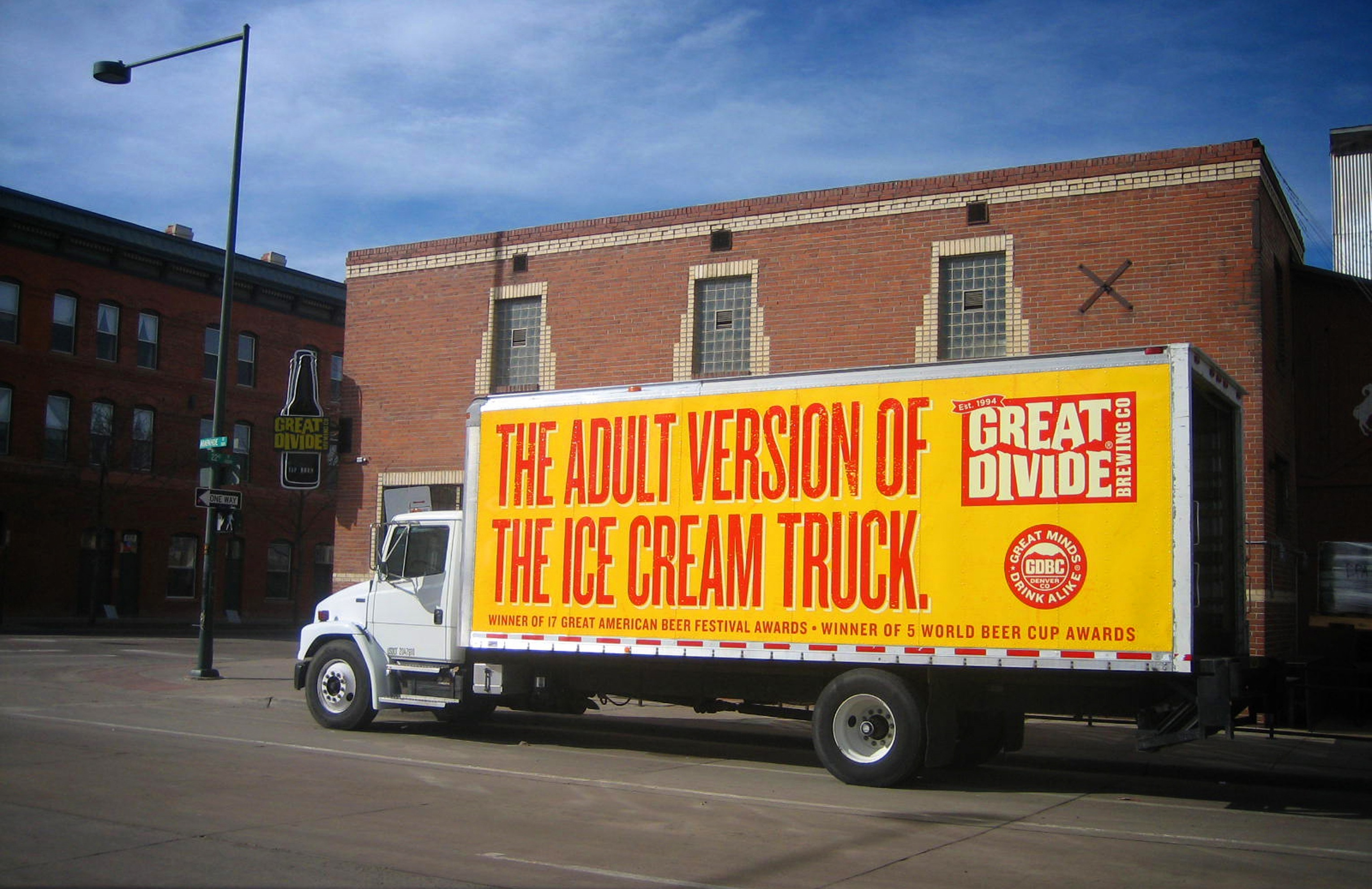 Great Divide truck wrap