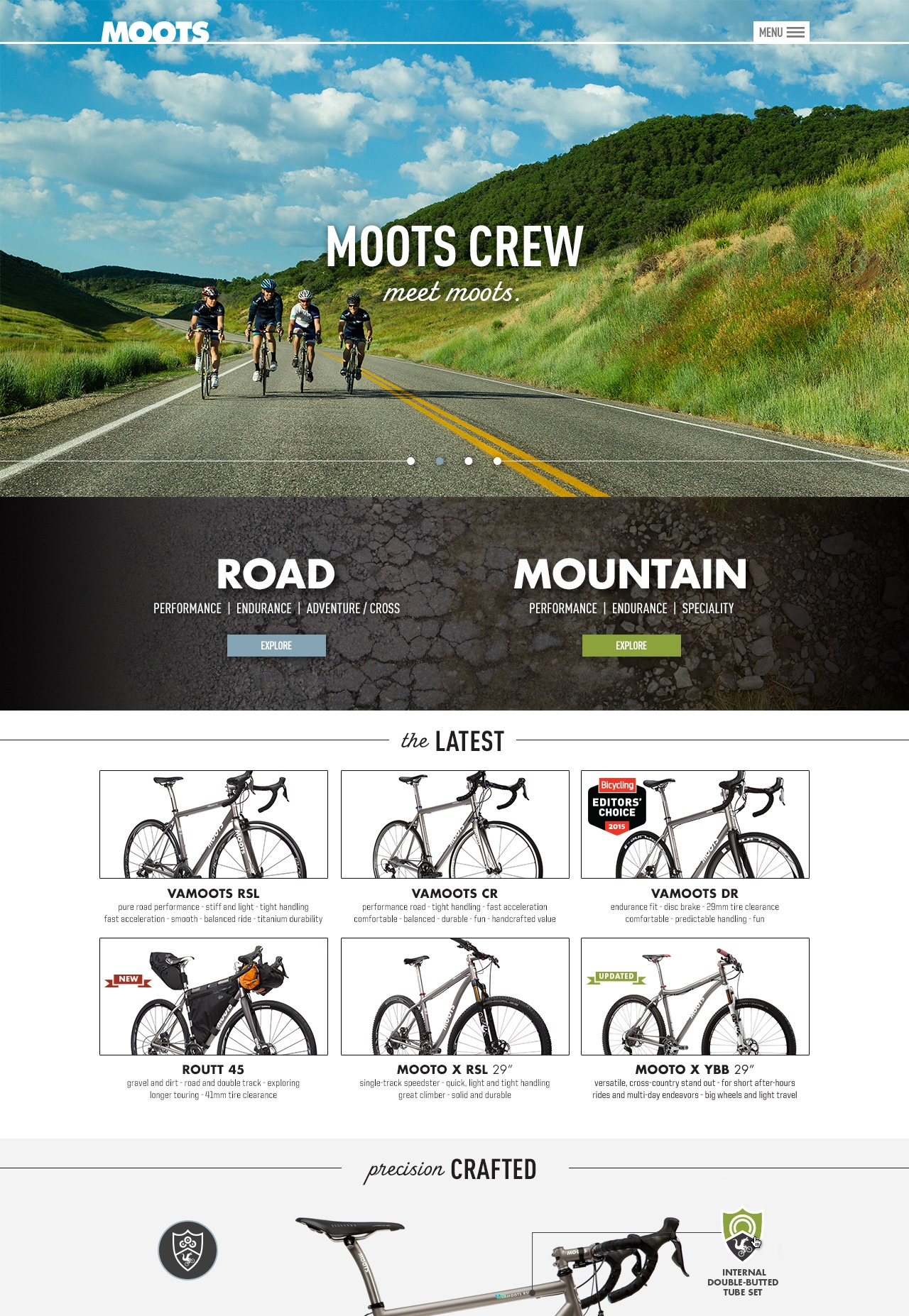 Moots website mock