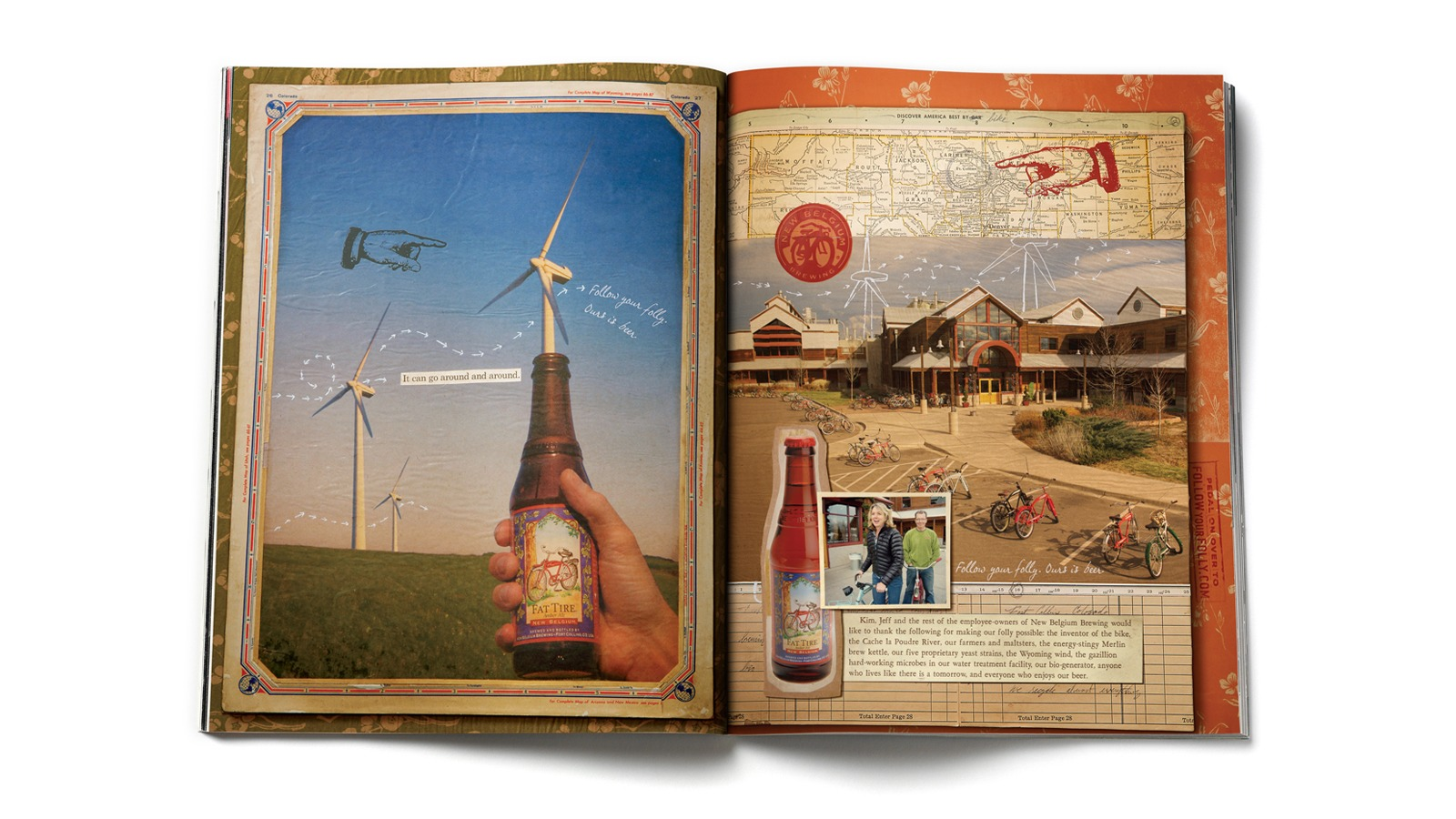 New Belgium Magazine spread