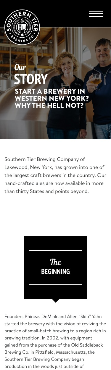 Southern Tier Brewing Co mobile website