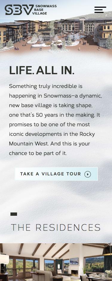 Allinsnowmass SBV website mock