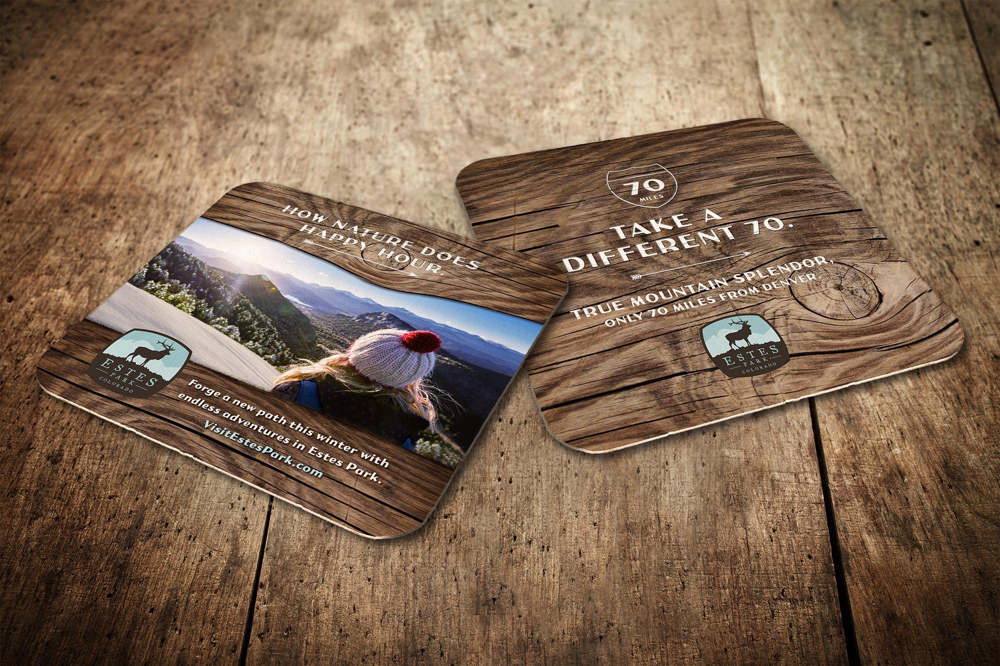 Visit Estes Park coasters