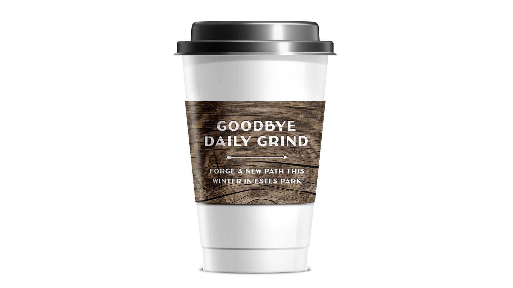 Visit Estes Park coffee sleeve