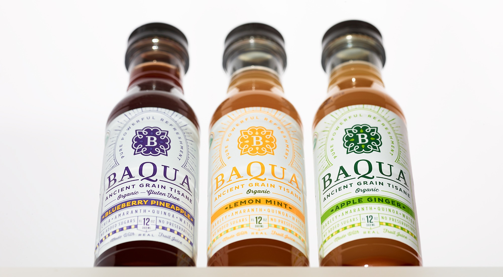 Baqua bottle packaging