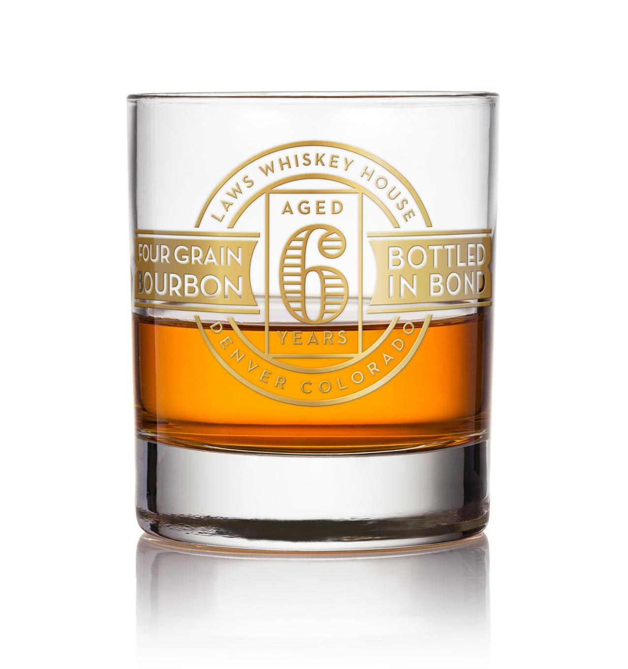 Laws Whiskey custom glass design