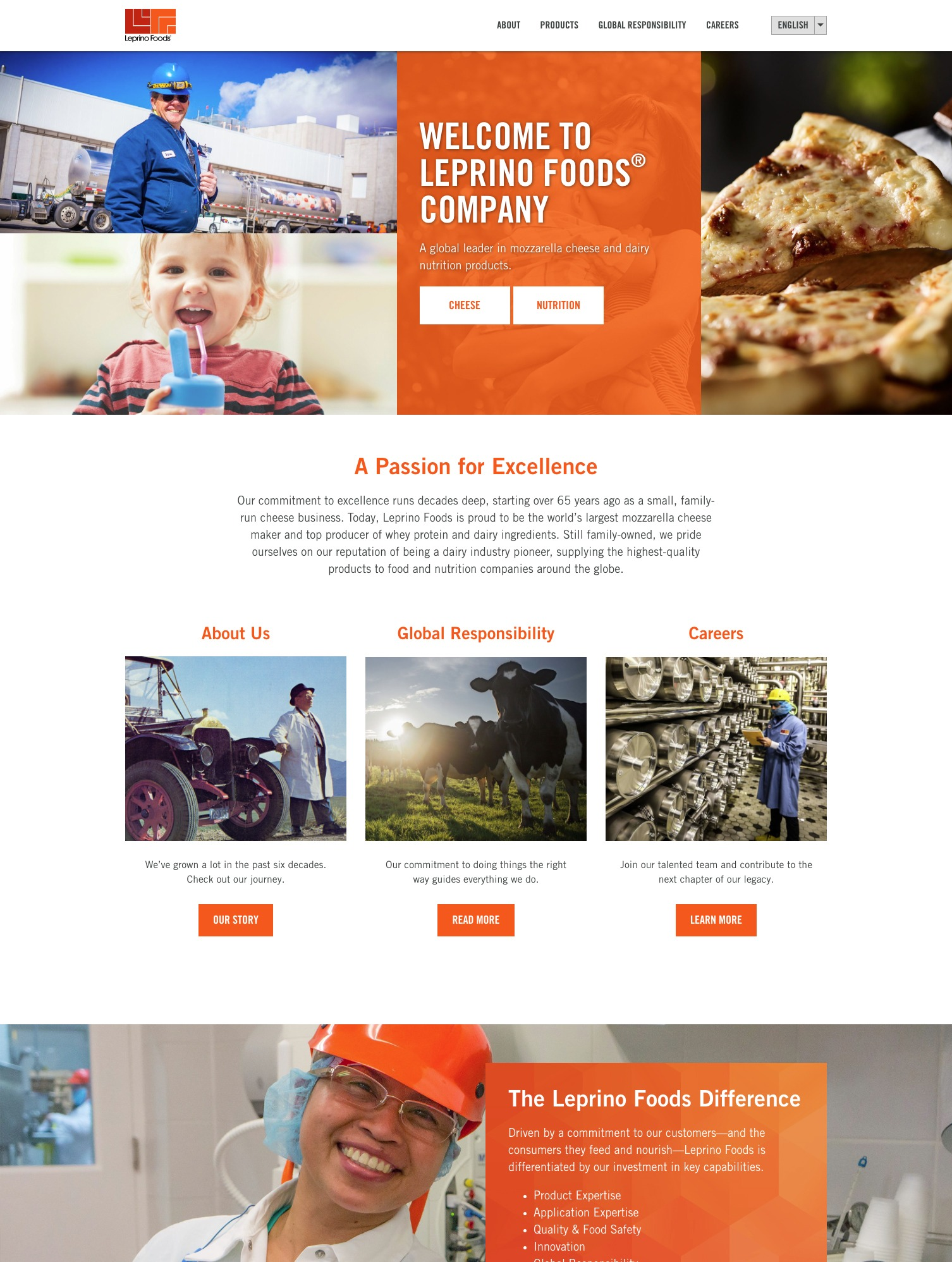 Bacio Cheese website mock