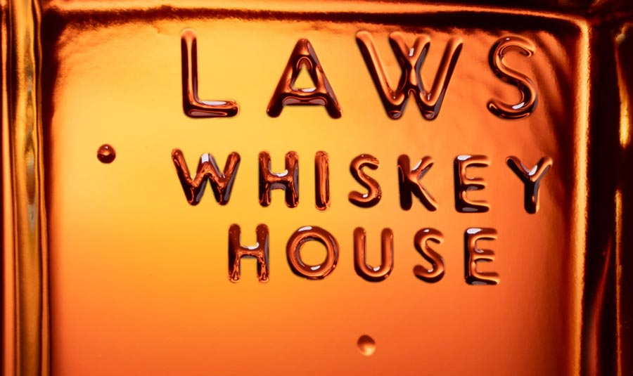 Laws Whiskey House bottles
